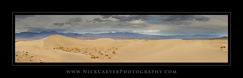 Mesquite Flat Sand Dunes in Death Valley National Park, CA