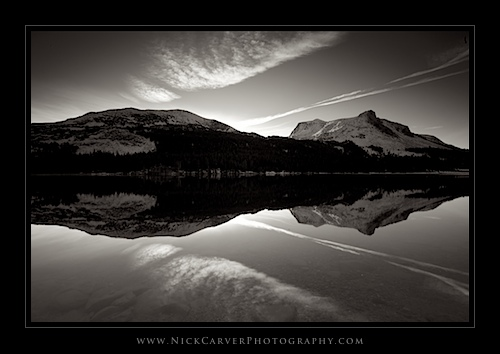 Morning at Tioga Lake (b&w)